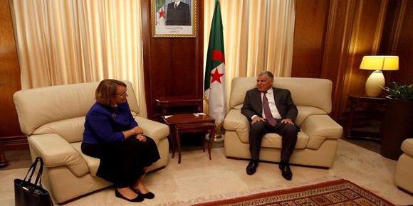 "Energy Minister holds talks with ""Joan Polaschik"" about Algeria- US' cooperation"