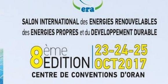 Algeria : Eighty exhibitors at ERA International Exhibition of Renewable Energies on 23-25 October in Oran